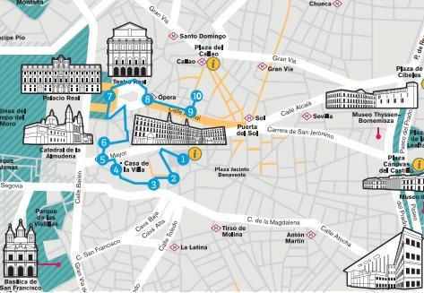 mapa turístico accesible de madrid
