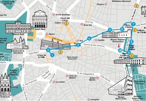 mapa accesible del madrid turístico